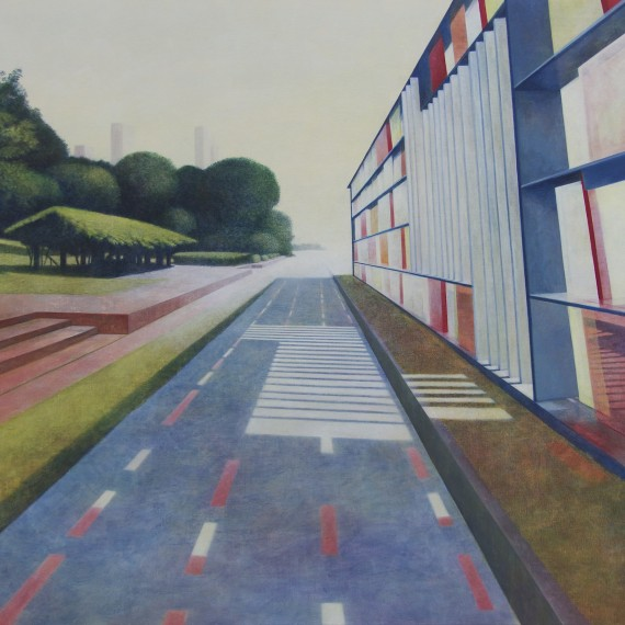 The Sheltered Walkway | 100 x 120 cm. | eitempera op linnen | 2015