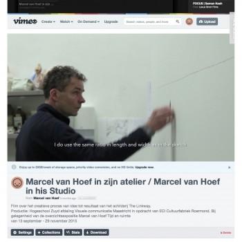 Marcel van Hoef in zijn atelier : Marcel van Hoef in his Studio on Vimeo