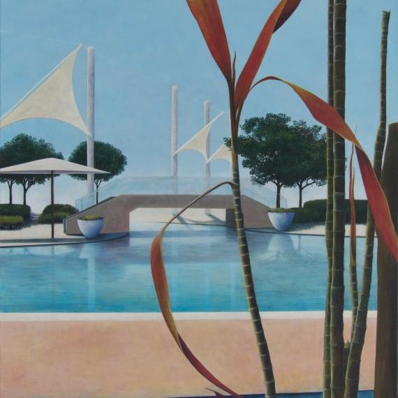Marcel van Hoef Poolside 150 x 100 cm.
